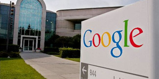 Google sign outside Mountain View headquarters