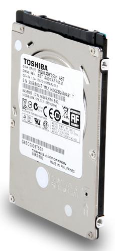 Toshiba 7mm hybrid disk drive
