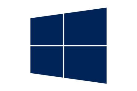 Dark Blue Window - detail of Windows Server logo