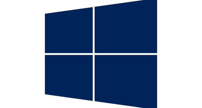 Dark Blue Window - detail of Windows Server logo