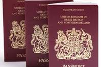 Three  UK Passports