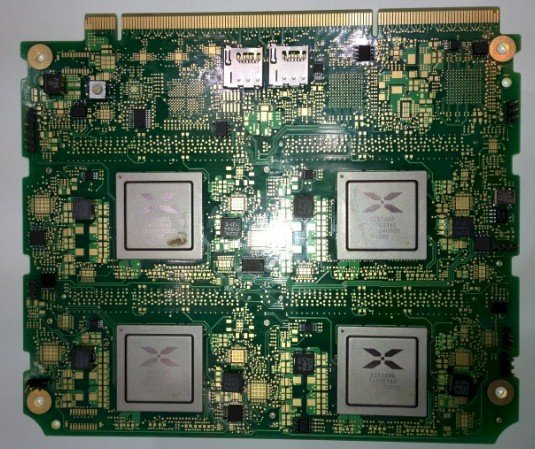 The processor side of the Calxeda card for Moonshot