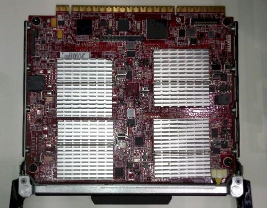The CPU and DSP side of the KeyStone-II Moonshot cartridge