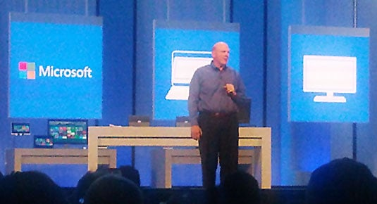 Photo of Steve Ballmer at Build 2013