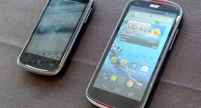 Acer Liquid Z2 and E1 Android smartphones
