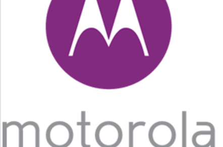 The logo in purple
