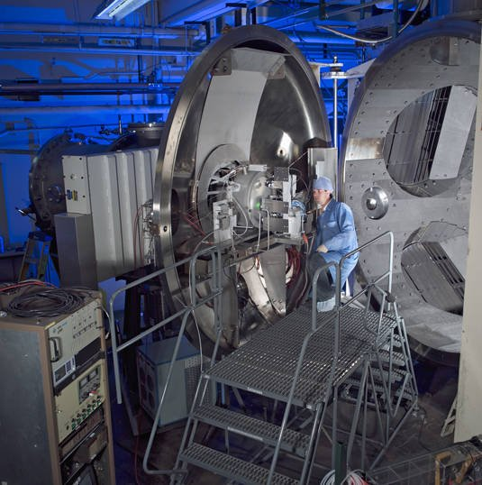 NASA's Evolutionary Xenon Thruster (NEXT) at the Glenn Research Center in Cleveland, Ohio