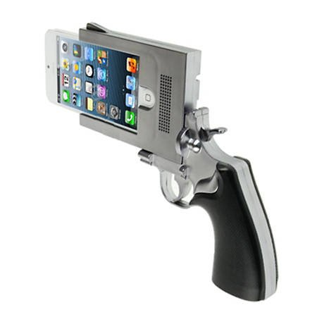 Sunsky 'Handgun Style Plating Skinning Plastic Shell for iPhone 5 (Silver Grey)'