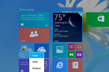 Windows 8.1 tile resizing