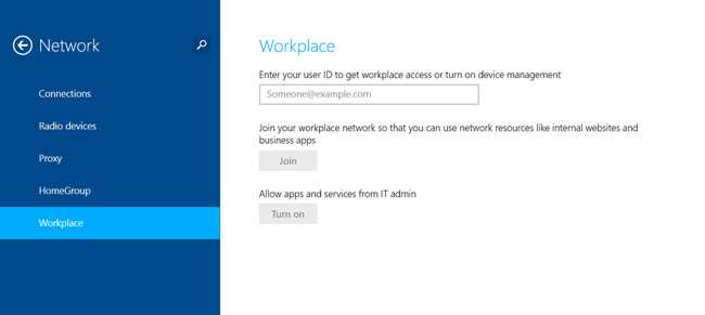 Windows 8.1 Workplace join