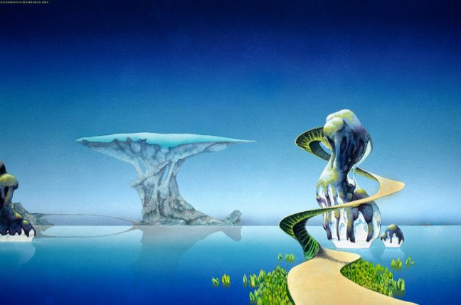 Pathways painting by Roger Dean, also featured on the album cover of Yes' <i>Yessongs</i>