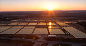Apple's solar array in Maiden, North Carolina