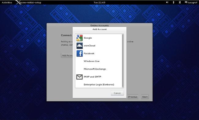 Fedora 19 Gnome social