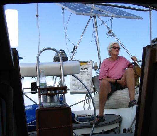 Evi Nemeth sailing