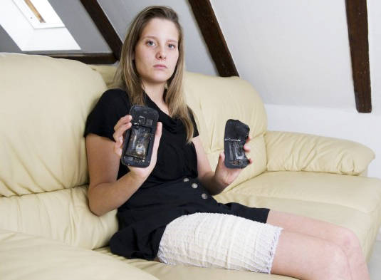 Fanny Schlatter, victim of exploding Samsung Galaxy S3