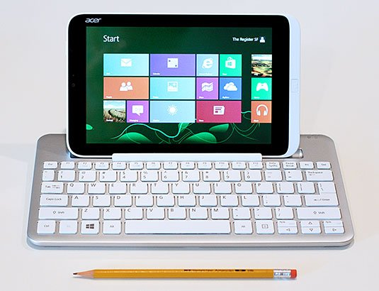 Acer Iconia W3 tablet running Windows 8
