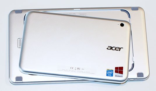 Photo of the Acer Iconia W3 in its keyboard case