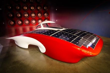 Stanford University's Luminos solar car
