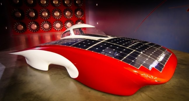 Stanford University's Luminos solar car