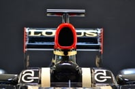 lotus F1 team, car front view