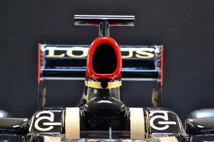 lotus F1 team, car front view