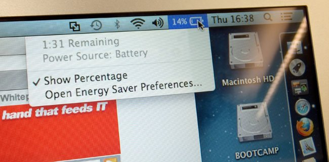 Apple MacBook Air 13in 2013 battery indicator