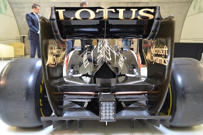 Lotus F1 car rear view