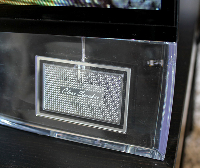 LG 55EA9800 OLED curved TV clear speaker