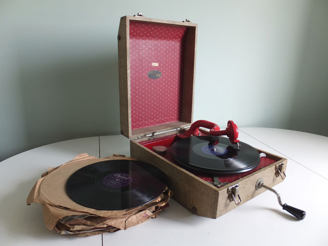 J.E. Dallas and Sons Triumph wind-up gramophone