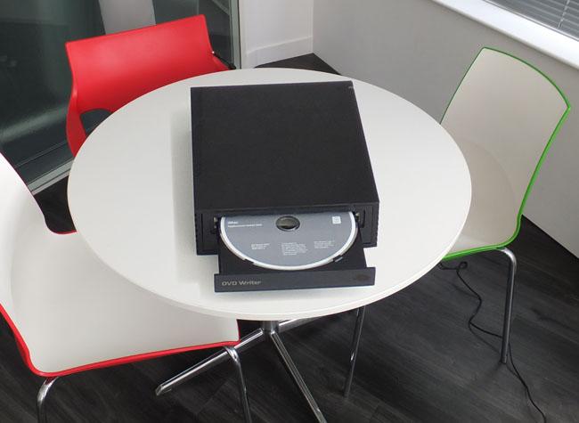 Oversize DVD writer