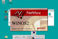 A splash screen added to Win-OS/2 by the Novell NetWare client.