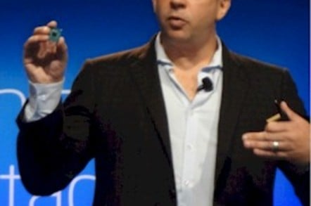 Intel cloud GM Jason Waxman sports shows off an Avoton Atom