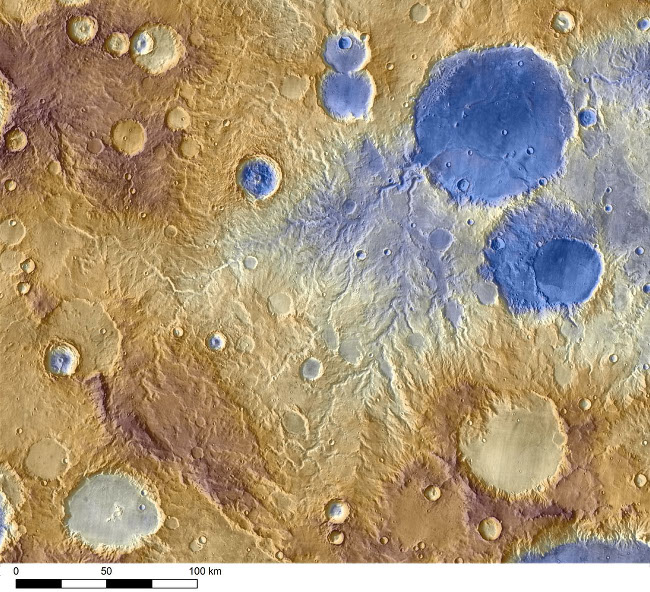 Water-carved valleys on Mars appear to have been caused by runoff from precipitation