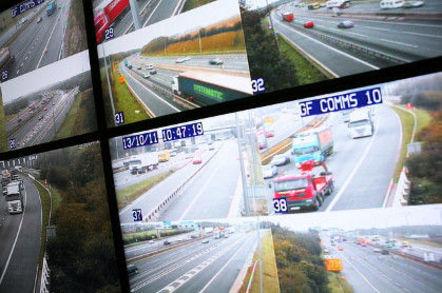 Motorway surveillance control room