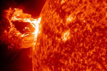 NASA image of solar flare