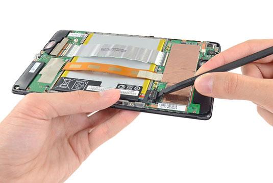 Photo of the new Nexus 7's battery tray