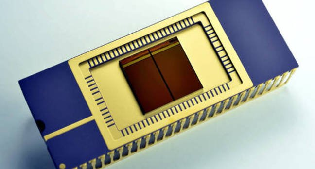 Samsung's mass-produced 3D vertical NAND (V-NAND) chip, in package