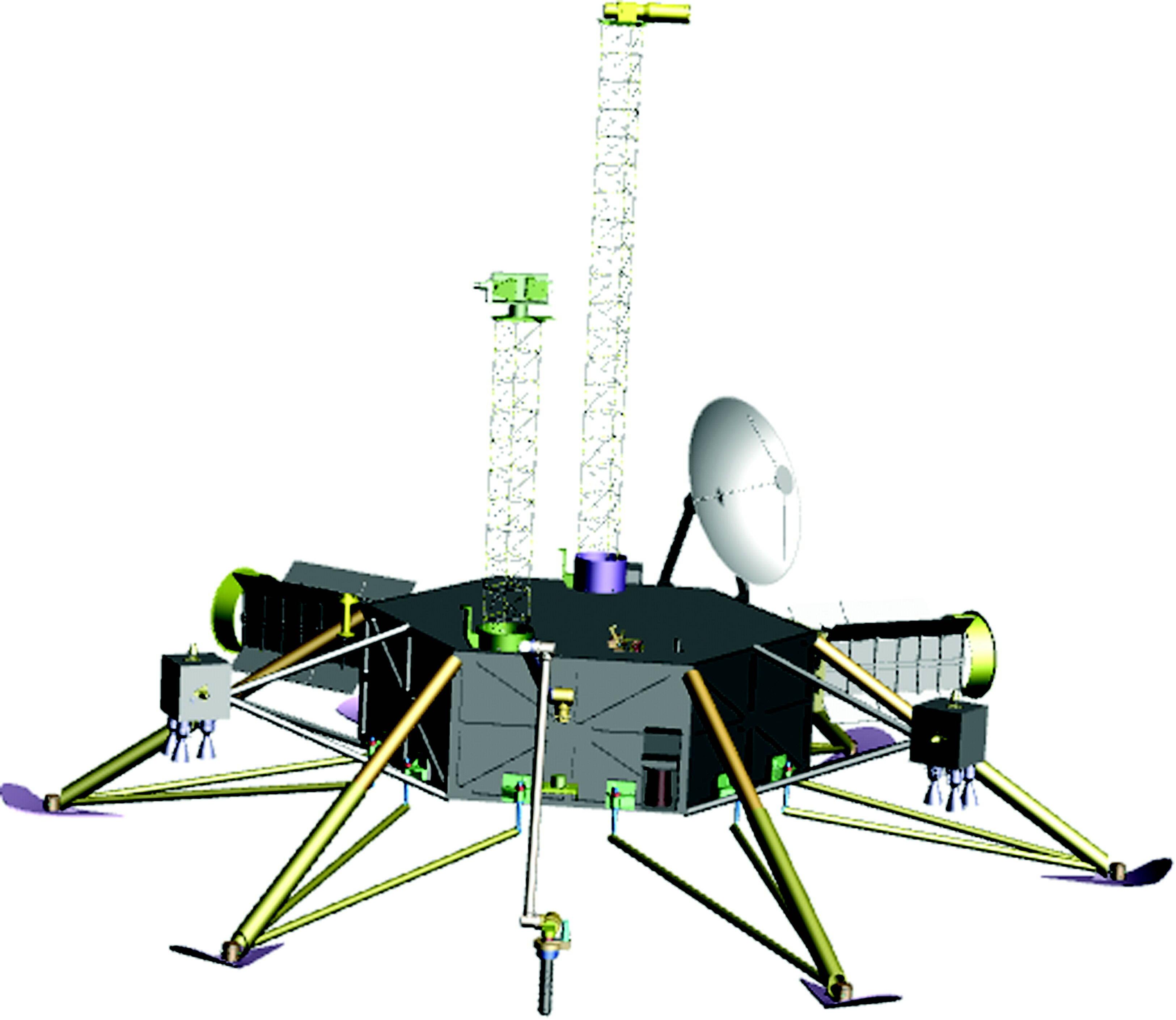 NASA's sketch of a future Europa lander