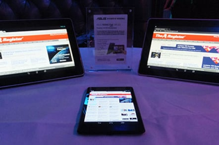 Google Nexus 7 2 flanked by the Asus MeMo Pad FHD 10