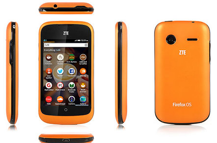 Photo of ZTE Open Firefox OS smartphone