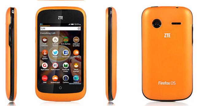 Photo of ZTE Open Firefox OS smartphone