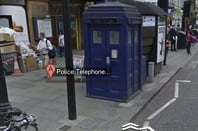 The TARDIS on Earl's Court Road