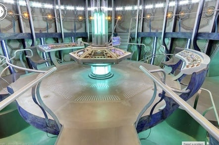 The interior of the TARDIS as imagined by Google Street View