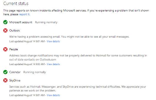 Microsoft problems
