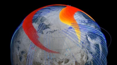 Chelyabinsk plume's path around Earth