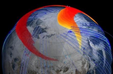 Chelyabinsk plume's path around Earth