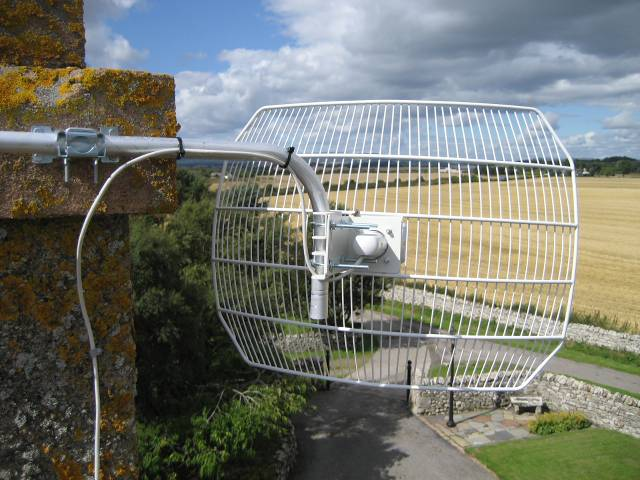 The antenna at Ronny's end