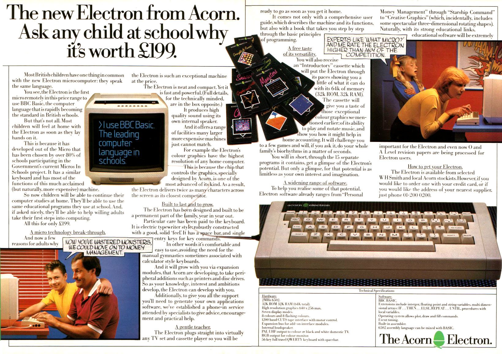 Acorn's would-be ZX Spectrum killer, the Electron, is 30