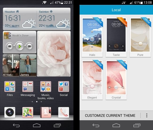 Huawei Ascend P6 UI and themes