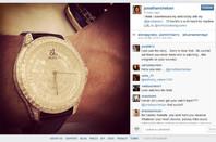 Cheban's blingy watch
